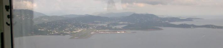 St Thomas Airport view from a Cessna