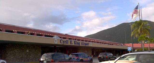 St Thomas Airport outside view